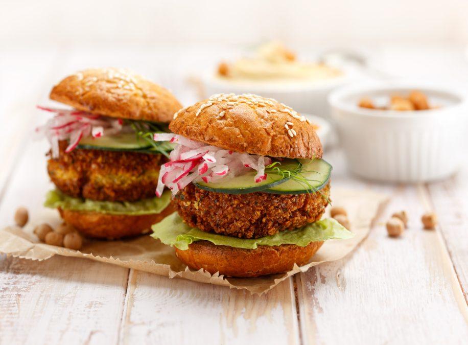 easy recipe for falafel burgers veganuary