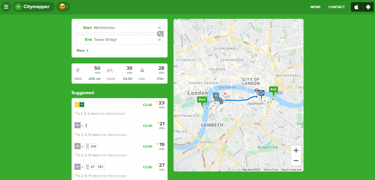 City mapper best app for London travel