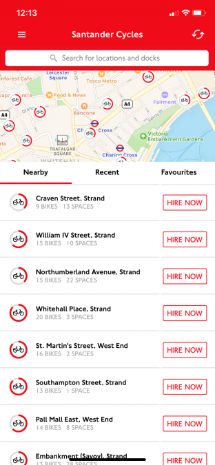 Santander Cycles best apps for London travel