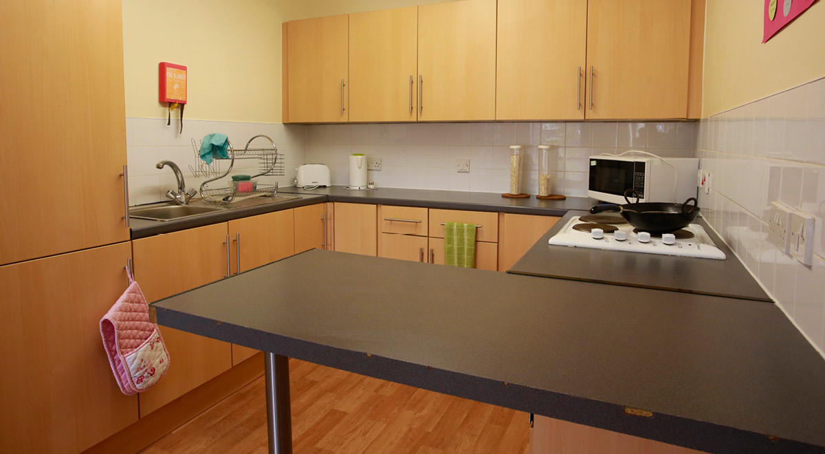 Shared Kitchen Facilities at Agnes Jones House in Liverpool