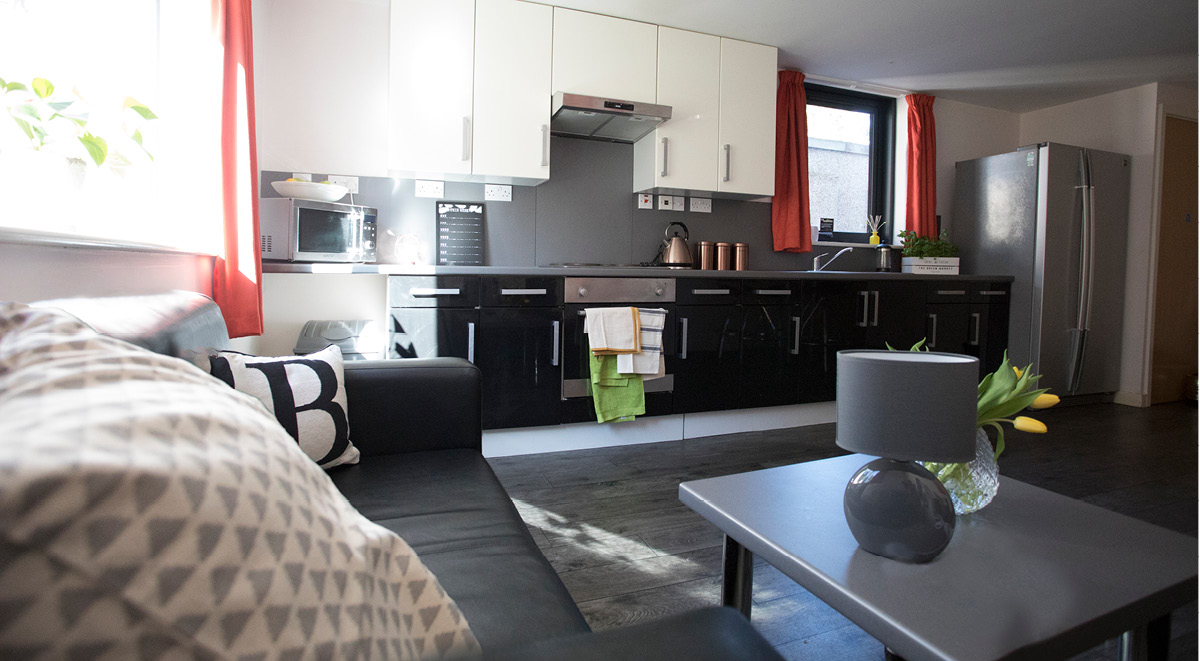 Shared Kitchen Facilities at Beaverbank Place in Edinburgh